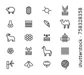 symbols of fabric feature thin... | Shutterstock .eps vector #758328358