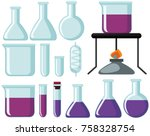 different types of glass... | Shutterstock .eps vector #758328754
