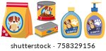 different types of products for ... | Shutterstock .eps vector #758329156