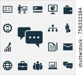 job icons set with diagram ... | Shutterstock .eps vector #758332384
