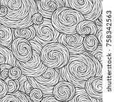 seamless wave pattern for... | Shutterstock . vector #758342563