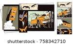 stock illustration. people in...   Shutterstock .eps vector #758342710