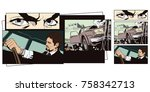 stock illustration. people in... | Shutterstock .eps vector #758342713