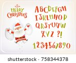 vector cartoon handwritten... | Shutterstock .eps vector #758344378