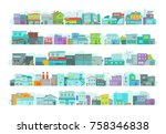 set of architecture town... | Shutterstock .eps vector #758346838
