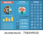 human resource infographic... | Shutterstock .eps vector #758349010