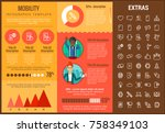 mobility infographic template ... | Shutterstock .eps vector #758349103