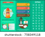 startup infographic template ... | Shutterstock .eps vector #758349118