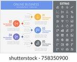 online business infographic... | Shutterstock .eps vector #758350900
