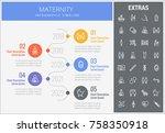 maternity infographic timeline... | Shutterstock .eps vector #758350918