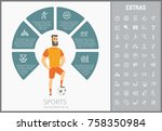sports infographic template ...