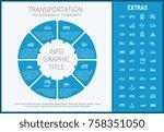 transportation infographic... | Shutterstock .eps vector #758351050