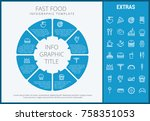 fast food infographic template  ... | Shutterstock .eps vector #758351053