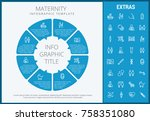 maternity infographic template  ... | Shutterstock .eps vector #758351080