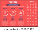 education infographic template  ... | Shutterstock .eps vector #758351128