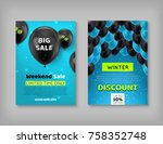 two black friday discount... | Shutterstock .eps vector #758352748