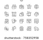 shopping well crafted pixel... | Shutterstock .eps vector #758352958