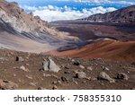 colors of massive volcanic... | Shutterstock . vector #758355310