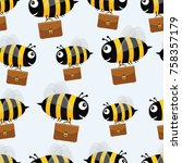 bees with briefcases. vector... | Shutterstock .eps vector #758357179