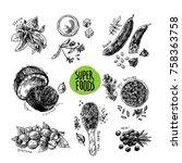 hand drawn vector illustration...   Shutterstock .eps vector #758363758