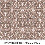 beautiful fashion seamless... | Shutterstock .eps vector #758364433
