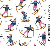 vector winter  illustration of...   Shutterstock .eps vector #758364496