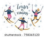 vector winter  illustration of... | Shutterstock .eps vector #758365120