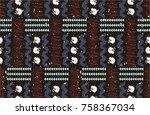 seamless african pattern.... | Shutterstock .eps vector #758367034
