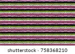 set of ethnic art brushes in... | Shutterstock .eps vector #758368210