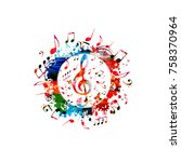 Colorful Music Poster With...