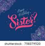 vector illustration.happy... | Shutterstock .eps vector #758379520