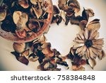 dried scented flower  the way... | Shutterstock . vector #758384848