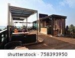 loft bar decoration style | Shutterstock . vector #758393950