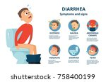 problem with stomachache.... | Shutterstock .eps vector #758400199