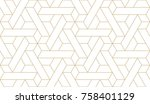 abstract geometric pattern with ... | Shutterstock .eps vector #758401129