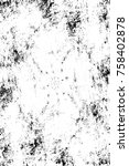 grunge black and white seamless ... | Shutterstock . vector #758402878
