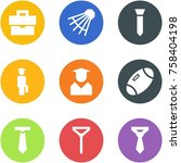 origami corner style icon set   ... | Shutterstock .eps vector #758404198