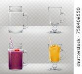 set of vector illustrations of... | Shutterstock .eps vector #758406550