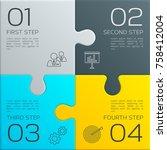 modern business infographic for ...   Shutterstock .eps vector #758412004