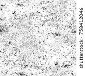 grunge black and white seamless ... | Shutterstock . vector #758412046
