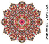round mandalas in vector.... | Shutterstock .eps vector #758412226
