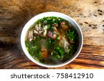 traditional vietnamese noodle... | Shutterstock . vector #758412910