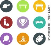origami corner style icon set   ... | Shutterstock .eps vector #758413294
