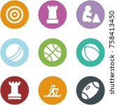 origami corner style icon set   ... | Shutterstock .eps vector #758413450