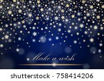 vector abstract shining falling ... | Shutterstock .eps vector #758414206