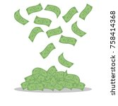 money banknotes isolated on... | Shutterstock .eps vector #758414368