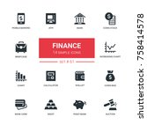 business and finance   line... | Shutterstock .eps vector #758414578