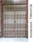 antique folding door background | Shutterstock . vector #758414728