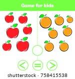 education logic game for... | Shutterstock .eps vector #758415538