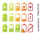 icon set with different status... | Shutterstock .eps vector #758419159